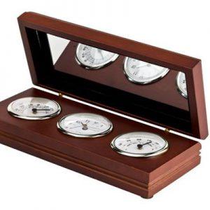 קופסא מעץ 3 עם שעונים